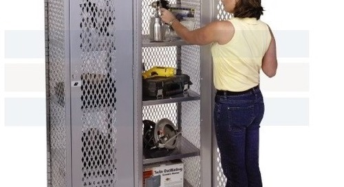 High Visibility All Welded Mesh Ventilated Equipment Lockers