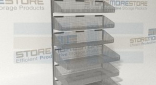 Supply Storage Racks & Carts with Wire Baskets Promote Cleanliness