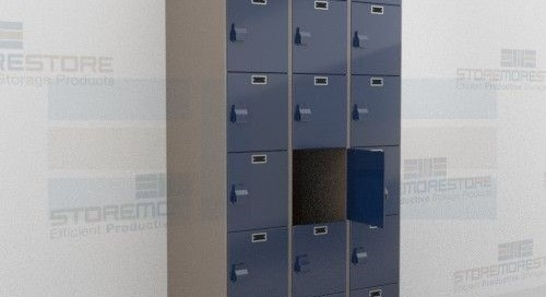 Antimicrobial Plastic Lockers Resist Mold & Chemicals