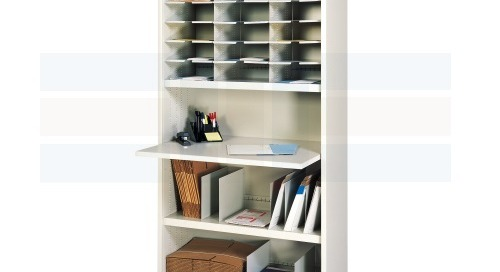 Mail Literature Sorting Cabinets with Slotted Shelves