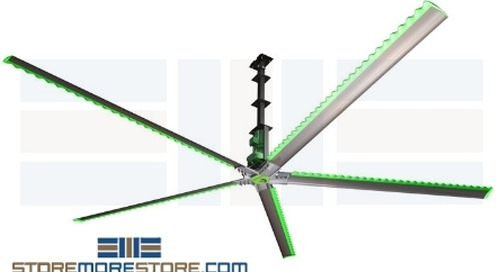 Industrial Ceiling Fans for Lumberyard Warehouse Cooling