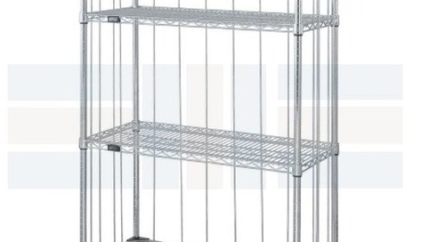 Linen Supply Carts & Enclosed Dollies with Wire Shelves