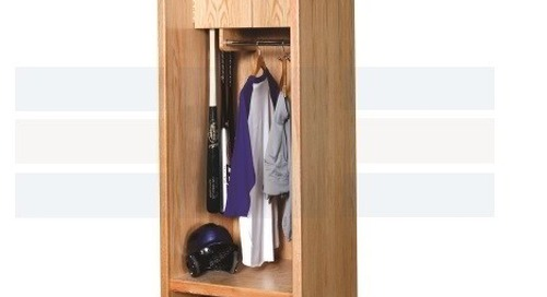 Athletic Wood Lockers | Game Day Sports Gear Storage