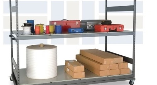 Portable Steel Racks for Mobile Industrial Warehouse Storage