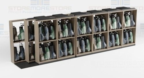 Golf Bag Sliding Shelving Storage Lateral Racks on Tracks
