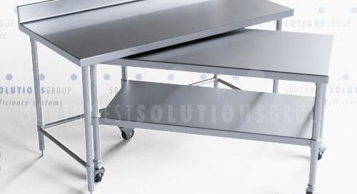 Nested Mobile Work Tables | Commercial Stainless Steel Equipment