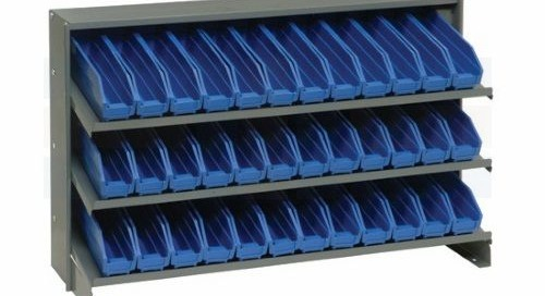 Slant Bin Shelving | Sloped Inventory Kitting Pick Racks