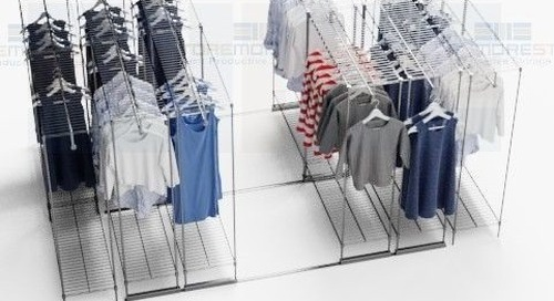 Sliding Mobile Garment Racks Retail Backroom Compact Storage