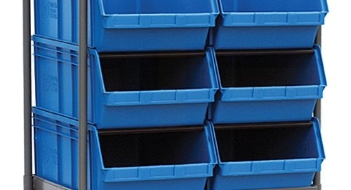 Bulk Stacking Bin Transport Carts Mobile Picking Stations