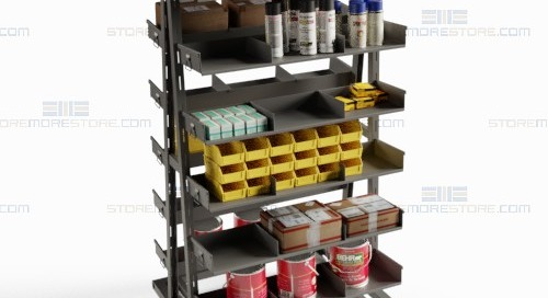 Removable Shelf Bin Tray Carts for Assembly & Parts Distribution