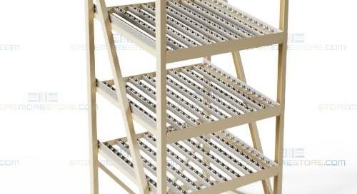 Gravity Flow Racks Slanted Roller Shelves FIFO Loading & Picking