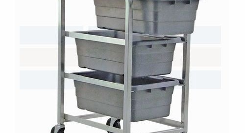 Mobile Bin Tote Carts | Plastic Tub Supply Storage Racks