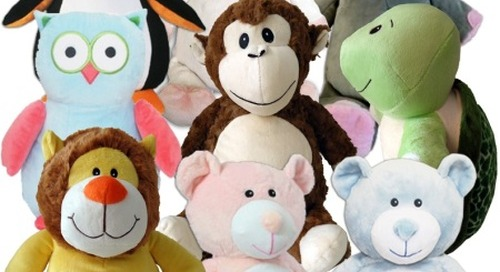 Boost Singlehead Sales With Embroiderable Stuffed Animals