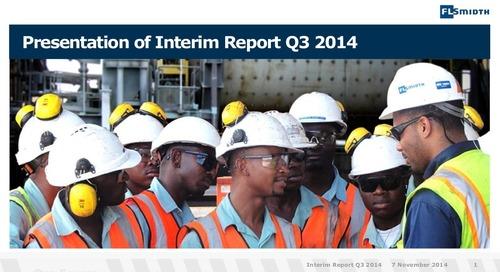 FLSmidth 3rd Quarter Report 2014