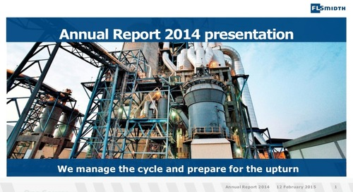 FLSmidth Annual Report 2014 presentation
