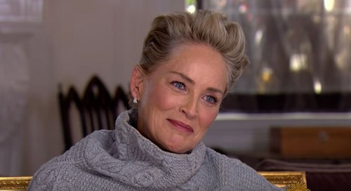 CBS Asked Sharon Stone If She Ever Felt 'Uncomfortable' In Hollywood. She Just Laughed.