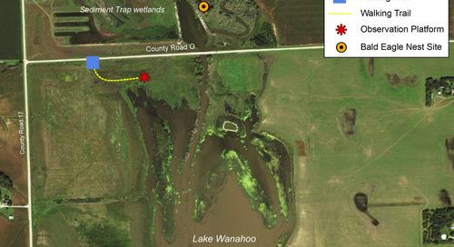 New Wildlife Viewing Platform at Lake Wanahoo