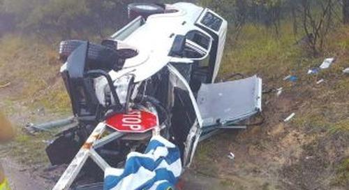 Storm blamed for car crash leaving one injured