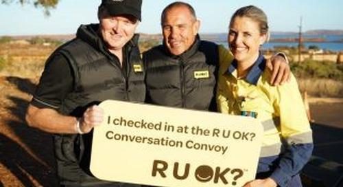 R U OK? visit Rio Tinto at Wickham and Dampier