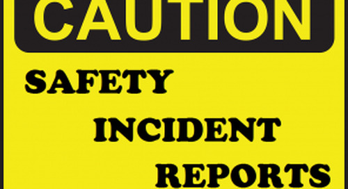 Dangerous incident: Truck impacted stationary vehicle