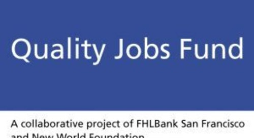 FHLBank San Francisco Launches $100 million Quality Jobs Program Program