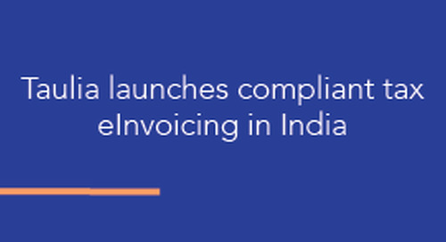 Taulia launches compliant tax eInvoicing in India