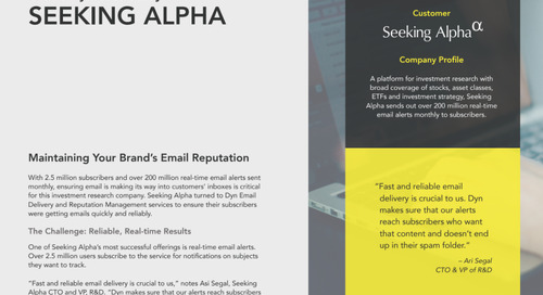 Seeking Alpha Case Study: Email Delivery