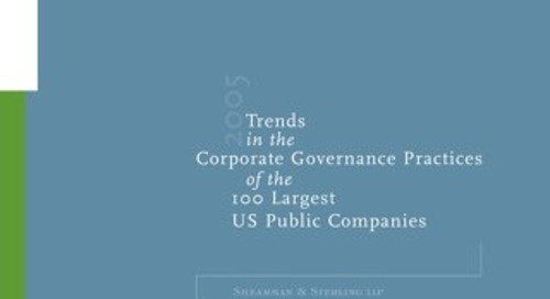 2005 Corporate Governance Survey
