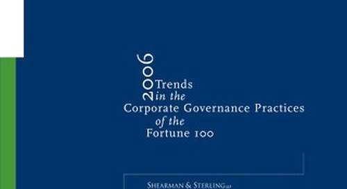 2006 Corporate Governance Survey