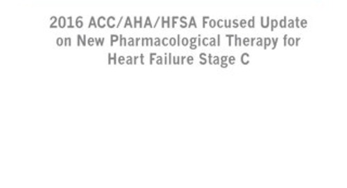 Heart Failure Stage 3 Pharmacological Therapy