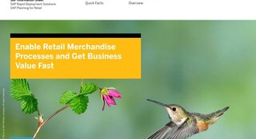 Enable Retail Merchandise Processes and Get Business Value Fast