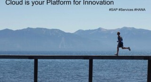 Top 10 Reasons why SAP HANA Enterprise Cloud is your Platform for Innovation