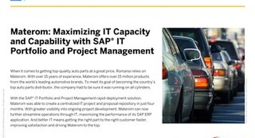 Materom: Maximizing IT Capacity and Capability with SAP IT Portfolio and Project Management