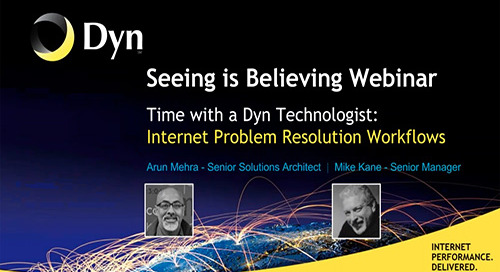 Seeing is Believing - An Internet Problem Resolution Workflow