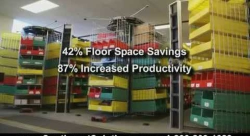 Rotating Horizontal Carousels for Hospital Supply Chain Materials Management Storage