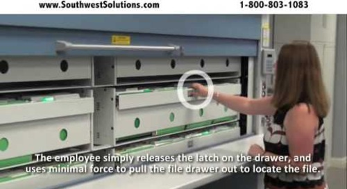 Lektriever Vertical Filing Carousel Machines for Construction Project File Storage