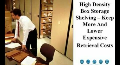 Legal High Density Shelving for Files & File Boxes Houston Texas 713-467-4454