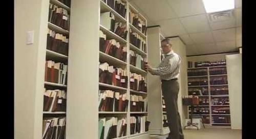 Sideways Sliding Shelves | Rolling Legal File Box Storage Shelving