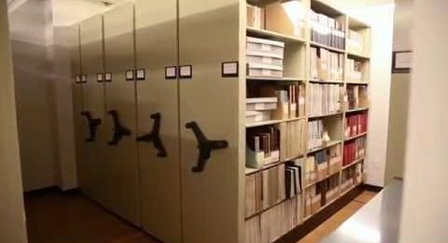 High Capacity Storage Shelving with Spinning Handles for Storing Library Archives Racks Cabinets