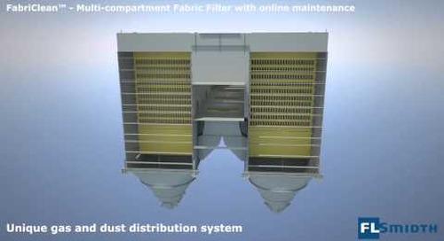 FLSmidth's FabriClean® fabric filters – intelligent gas and dust distribution