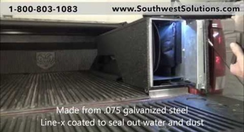 Pickup Truck Bed High Security Gun Lockers for Rifles   Law Enforcement Weapon Storage