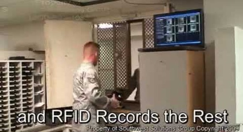 Military Armory Weapon Management with RFID Tracking of Weapons Rifles Guns Pistols Ammo