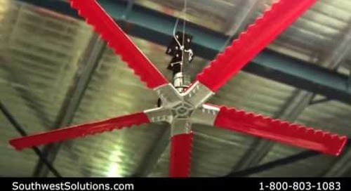Most Energy Efficient High Velocity Low Speed Fan   Big Reversible HVLS Fans