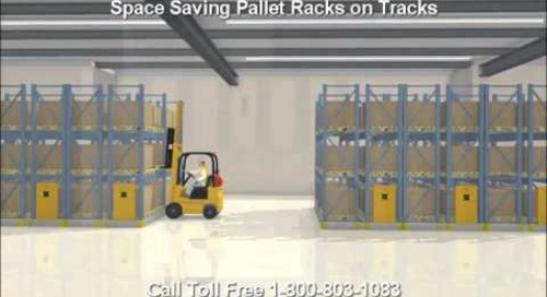 How to Save Space with Electric Push Button Rolling Pallet Racks on Tracks