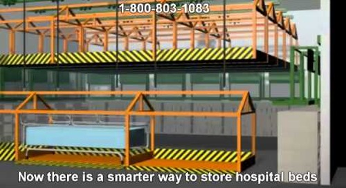 Storing Broken Hospital Beds Overhead to Save Space | How to Store Hospital Beds