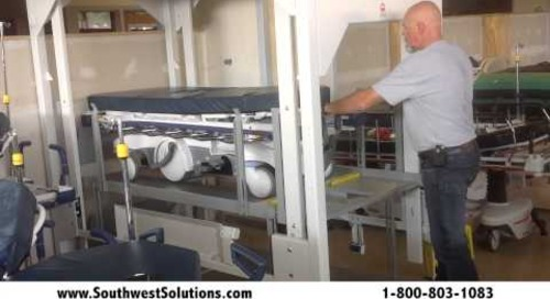 How to Load A Vertical Bedlift with Broken Hospital Beds Stretchers