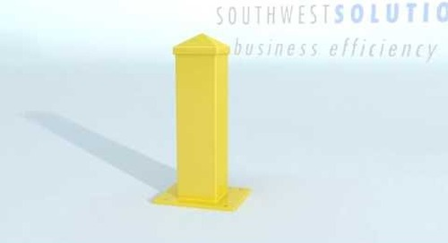 Forklift Guardrails Safety Rails Warehouses Protecting Machinery