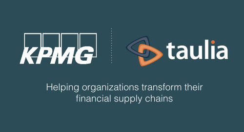 KPMG And Taulia Align To Help Organizations Transform Financial Supply Chains