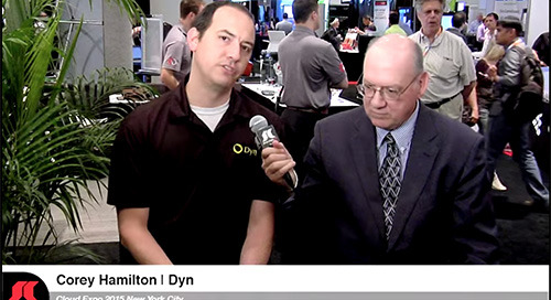 VIDEO: Interview with Corey Hamilton, Dyn Product Marketing Manager, at Cloud Expo