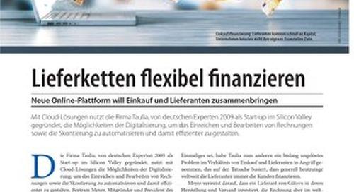 Flexible Finanzierung mit Taulia-Plattform